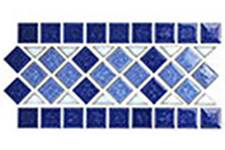 Japanese ceramic tile Photo:mosaic border