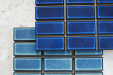 Japanese ceramic tile Photo:Japan blue Glossy 45x95mm