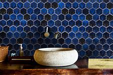 Japanese ceramic tile Photo:Origami