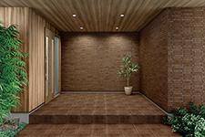 Japanese ceramic tile Photo:MKS