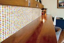 Japanese ceramic tile Photo:PIN DOT