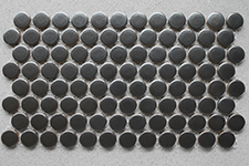 Japanese ceramic tile Photo:Black Metallic Penny round